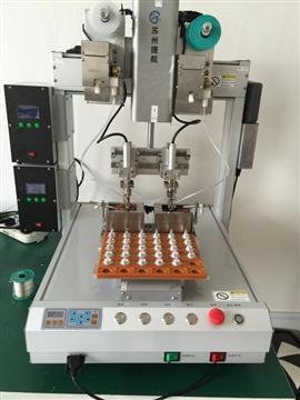 双滑台自动焊锡机器人厂家 苏州自动焊锡机机器人