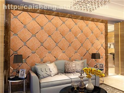 彩盛艺术玻璃拼镜电视背景墙影视墙